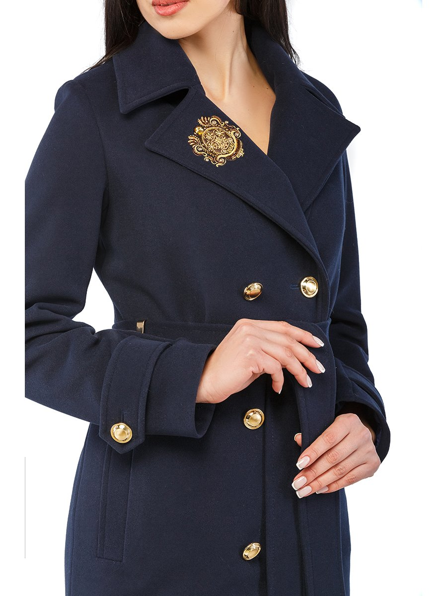 Пальто синє | 3043297 | фото 2