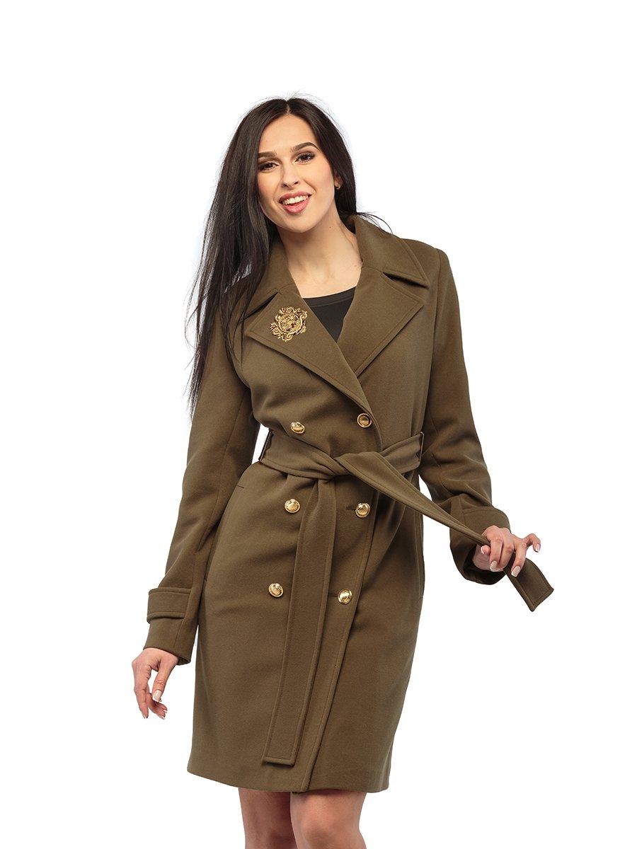Пальто кольору хакі | 3043298