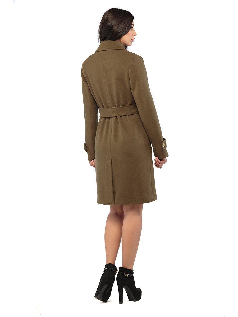 Пальто кольору хакі | 3043298 | фото 3