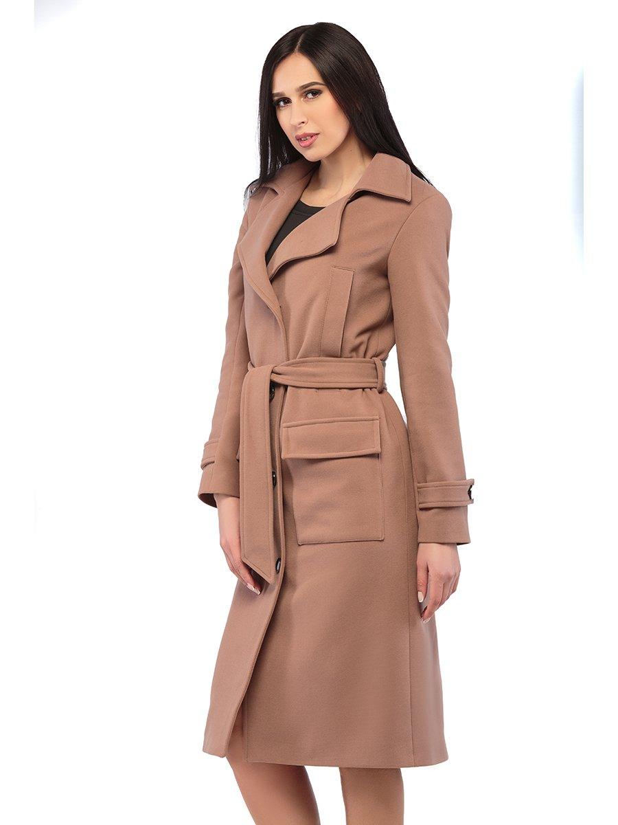 Пальто кольору капучино | 3043300
