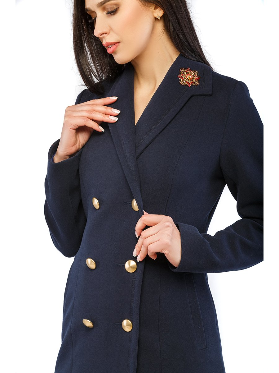 Пальто синє | 3043326