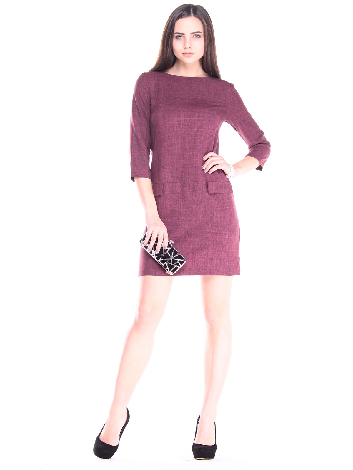Платье сливового цвета | 2917961