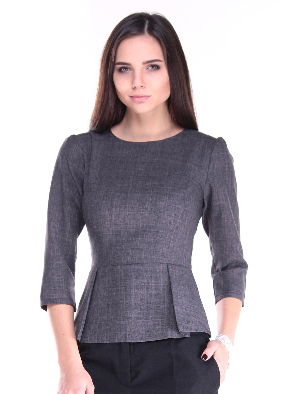 Блуза графитового цвета | 2917968