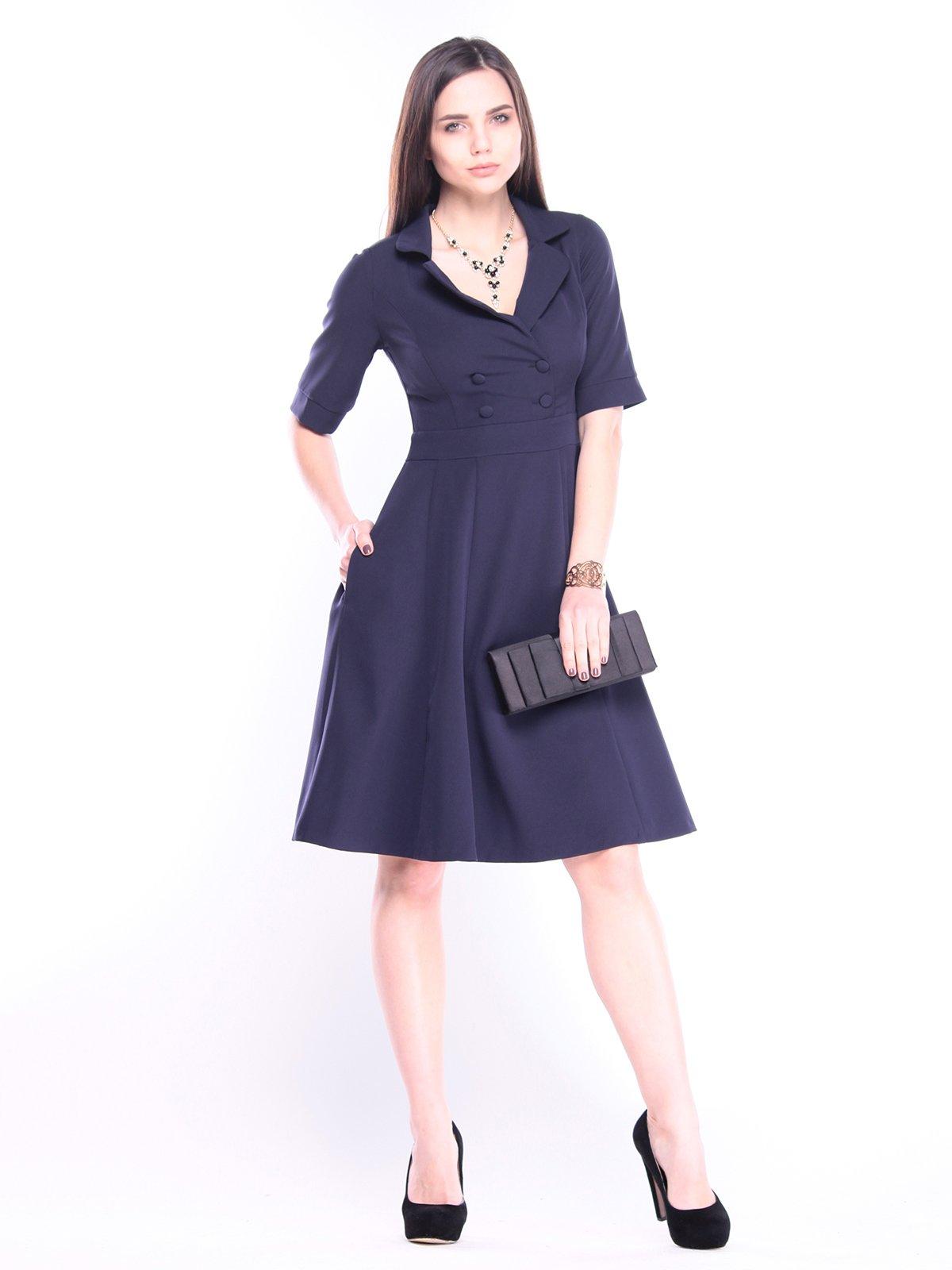 Платье темно-синее | 3008167
