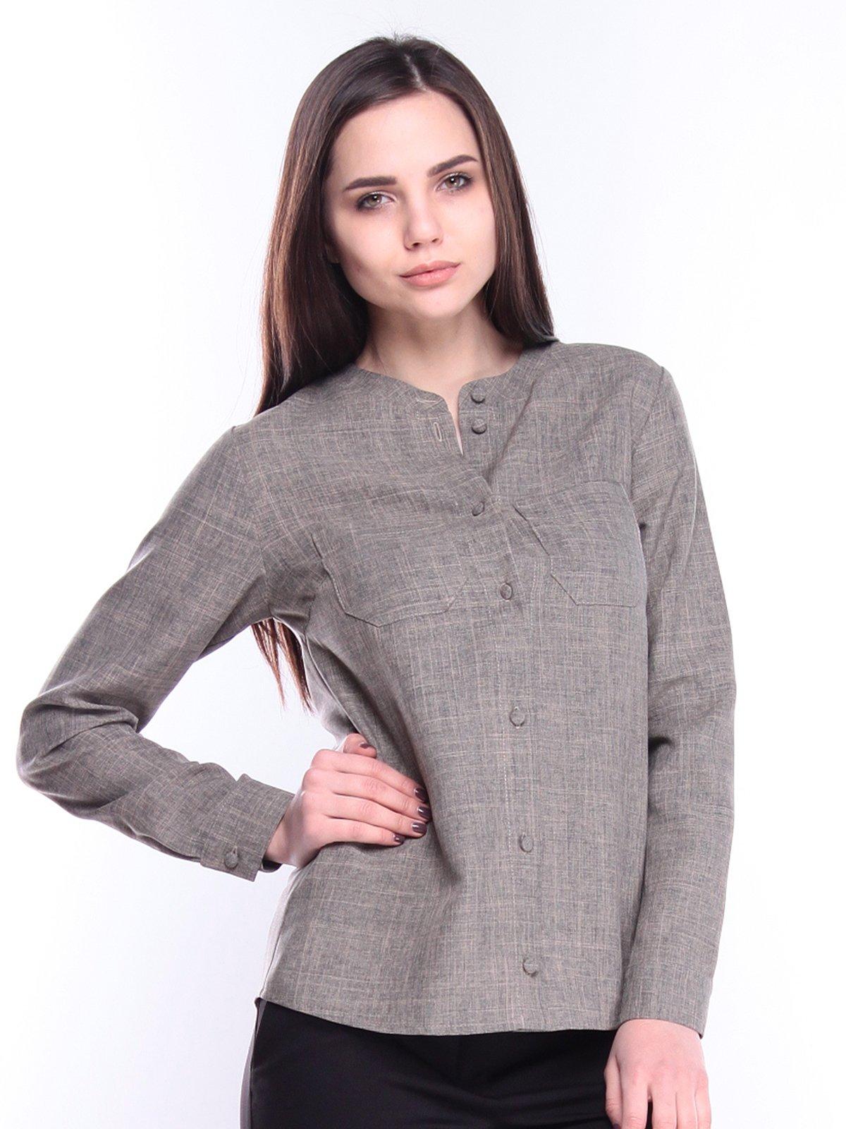 Блуза цвета бежевый хаки | 3040919