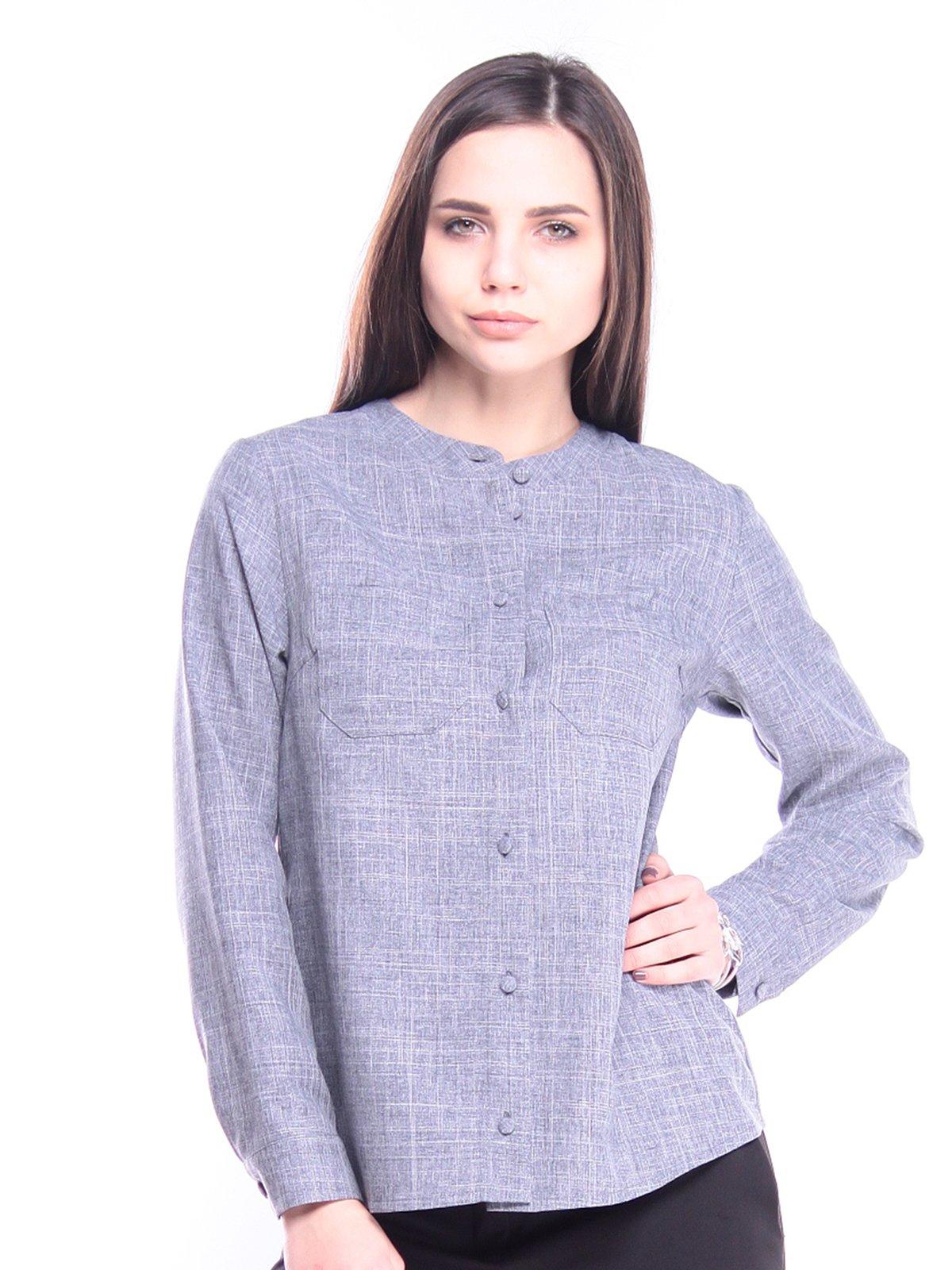 Блуза кольору фіолетового серпанку | 3040922