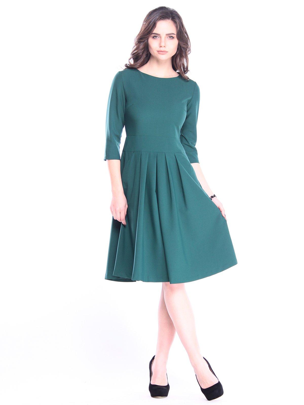 Платье темно-изумрудное | 3041114