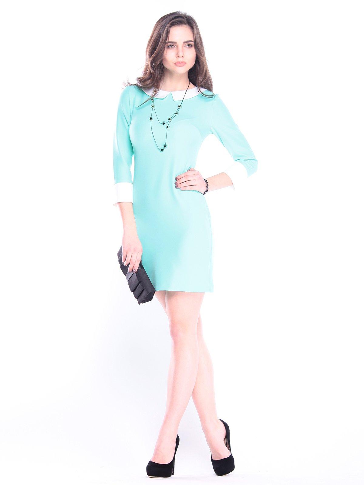 Платье ментолово-молочное   3041125