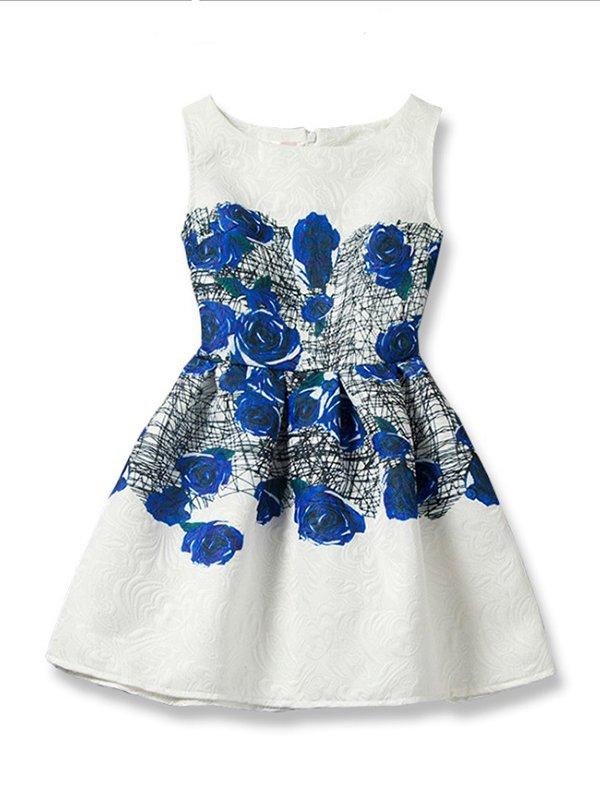 Сукня біла з принтом   3061581