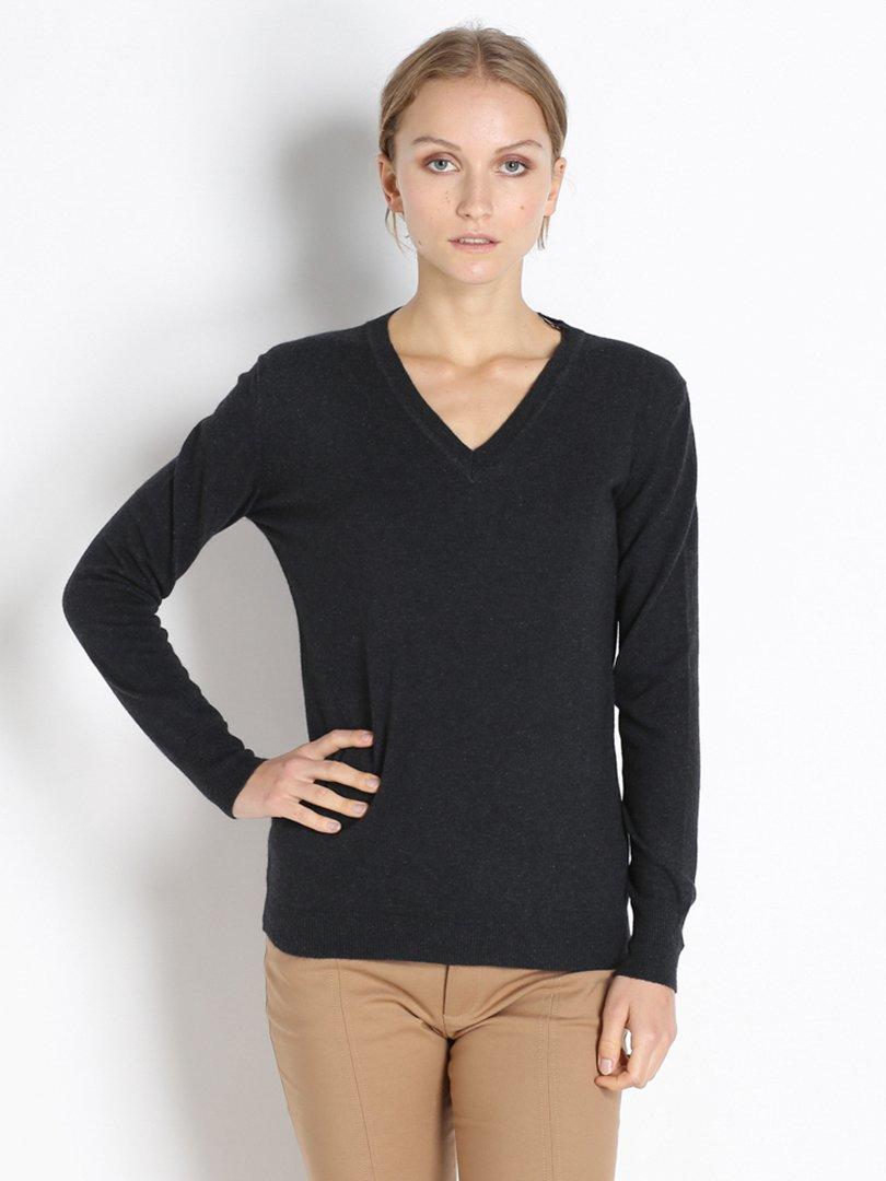 Пуловер темно-серый | 2386321