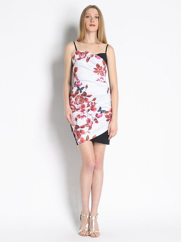 Платье белое с принтом | 3067015
