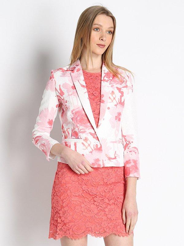 Жакет рожевий в принт | 3067059