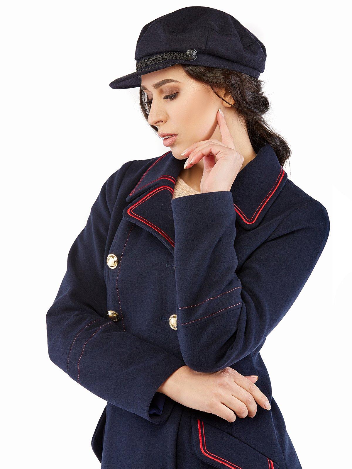 Пальто темно-синє | 3043312