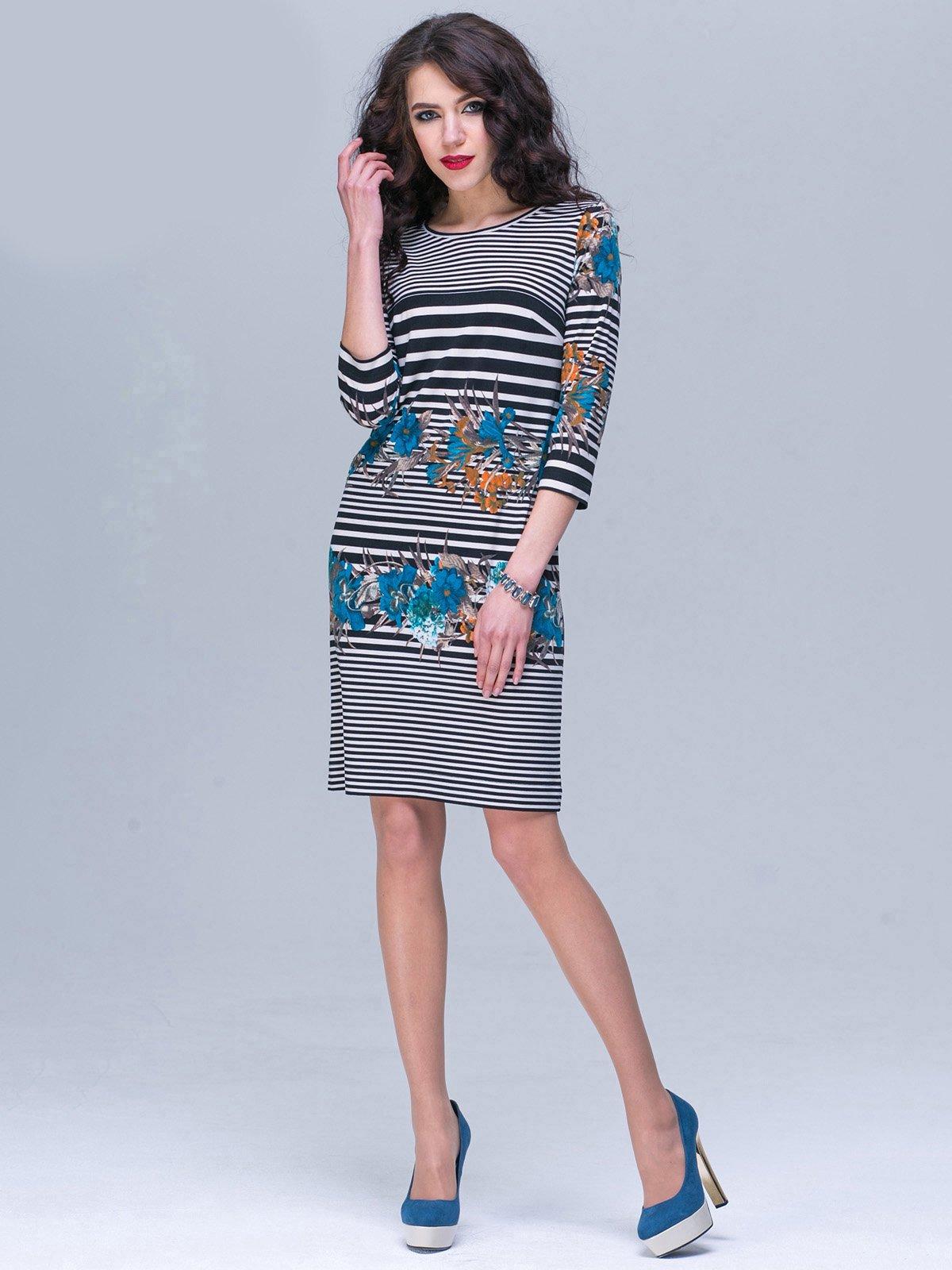 Сукня в смужку і квітковий принт   2174363