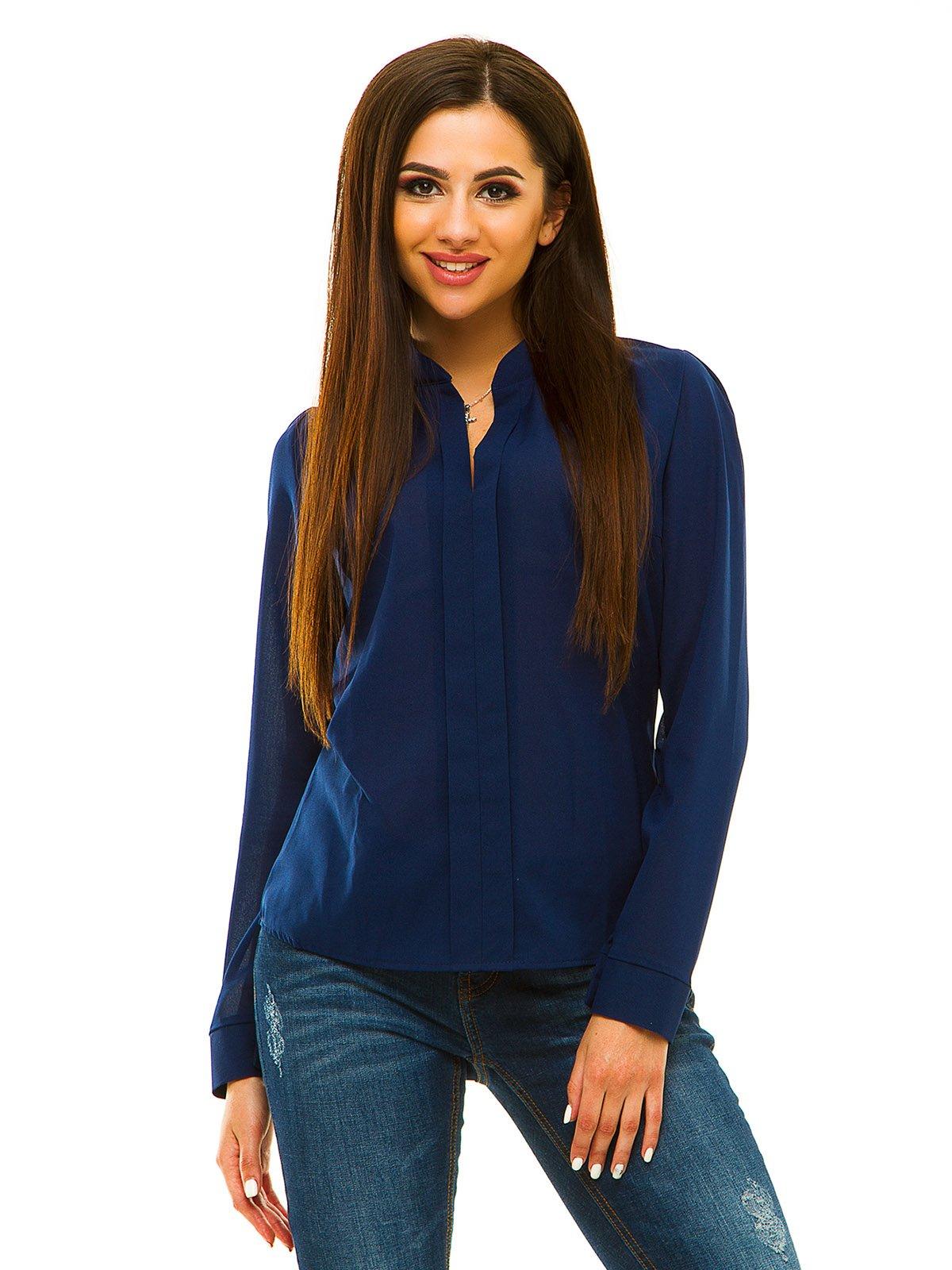 Блуза темно-синяя | 3067949