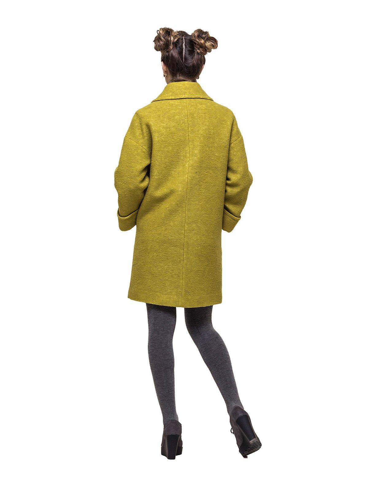 Пальто горчичного цвета   3069268   фото 2