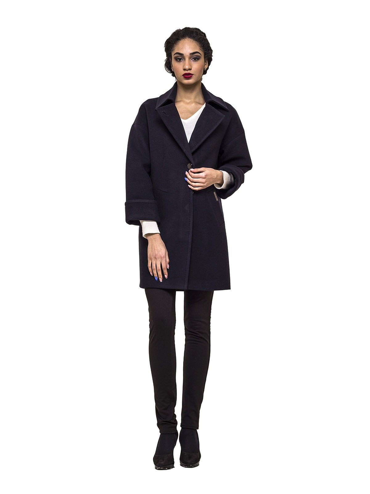 Пальто темно-синее | 3069278