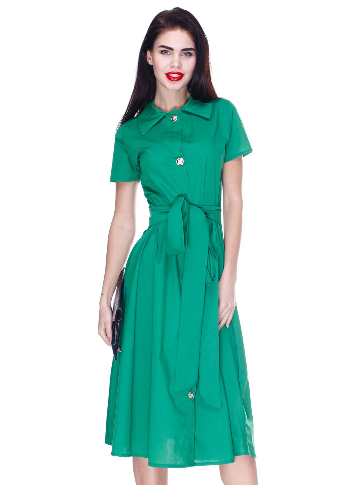 b73d46873e8 Платье-рубашка зеленое — CELEBRITY