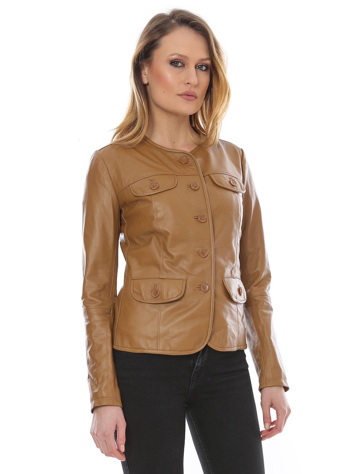 Куртка цвета коньяка | 1879179 | фото 3
