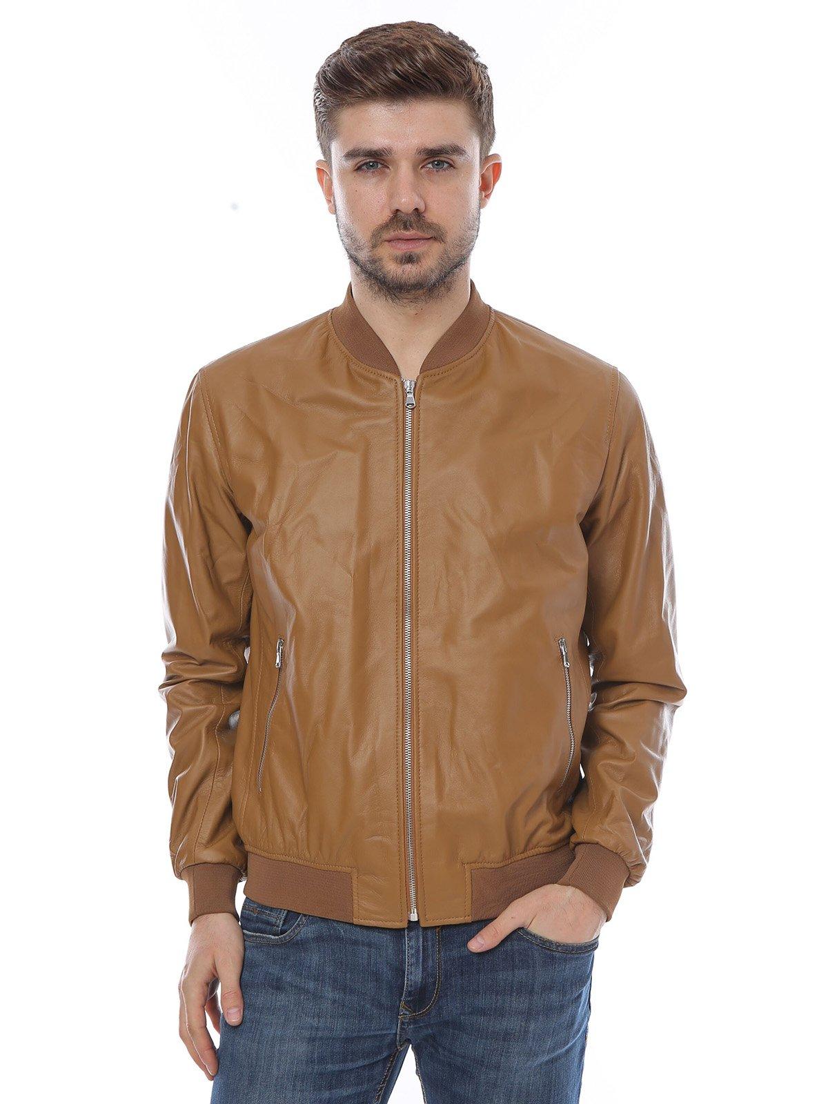 Куртка коньячного цвета | 3010793