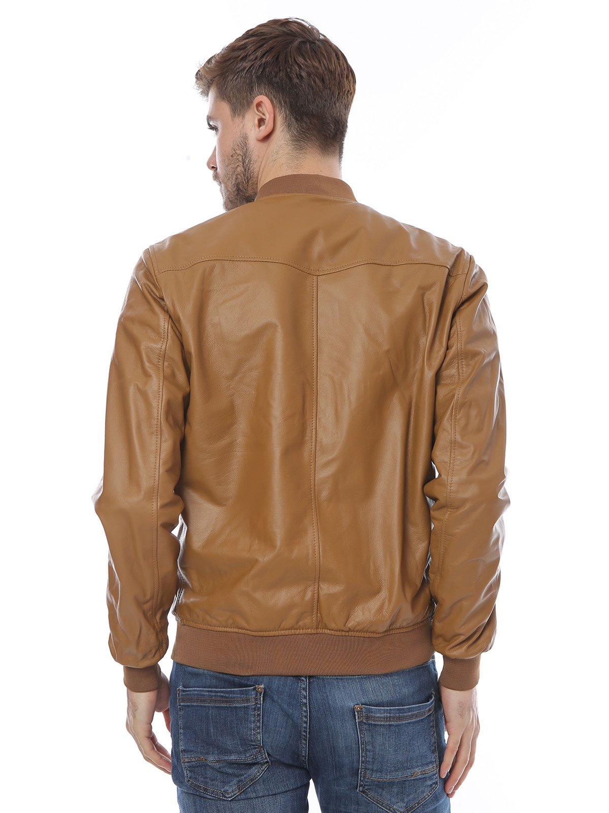 Куртка коньячного цвета | 3010793 | фото 2