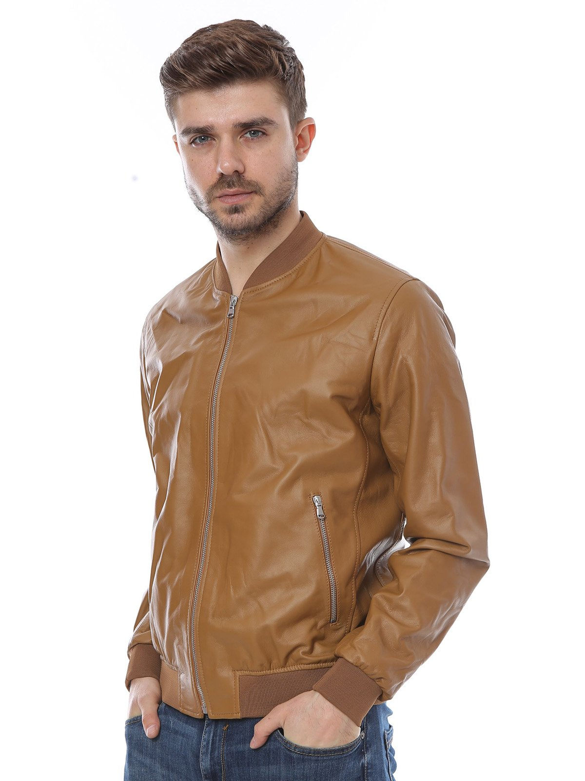 Куртка коньячного цвета | 3010793 | фото 3