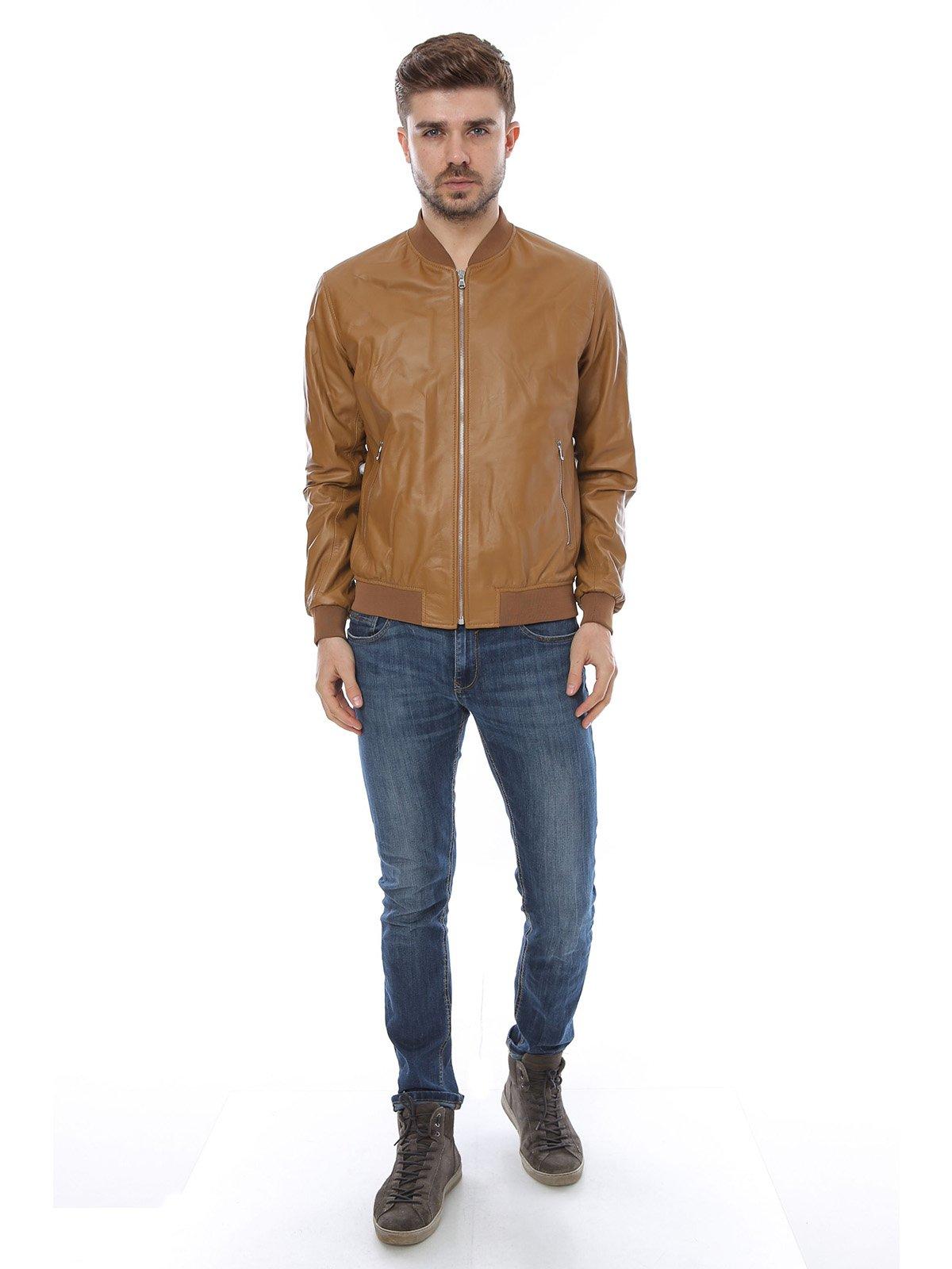 Куртка коньячного цвета | 3010793 | фото 4