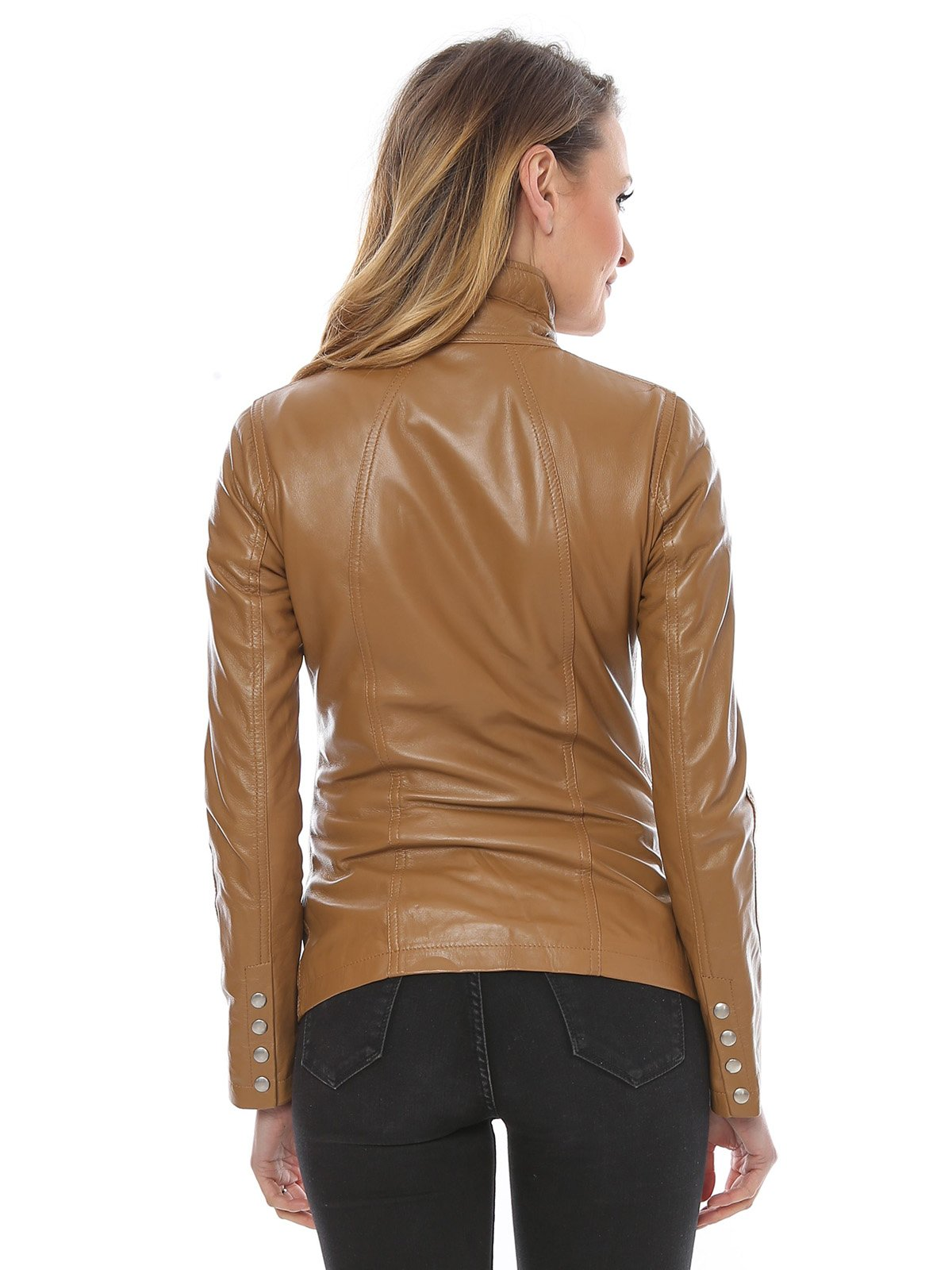 Куртка коньячного цвета | 3010592 | фото 2