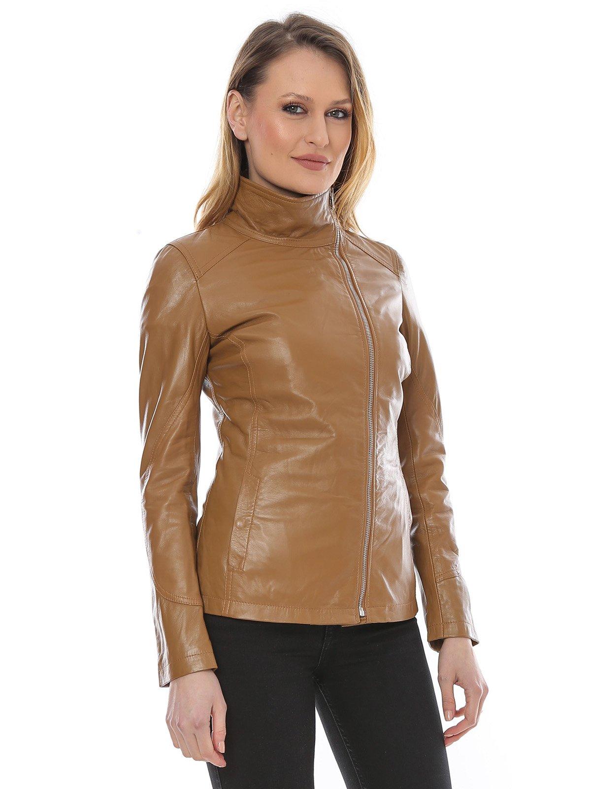 Куртка коньячного цвета | 3010592 | фото 3
