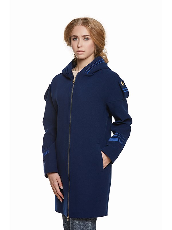 Пальто синє | 3043329 | фото 4