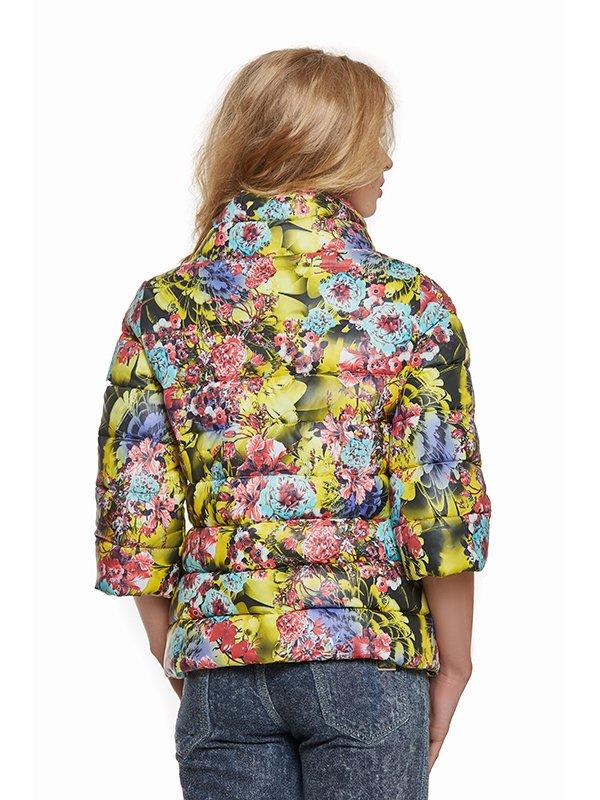 Куртка лимонного кольору в принт | 3094415 | фото 2