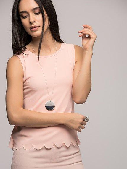 Блуза пудрового цвета | 3094125
