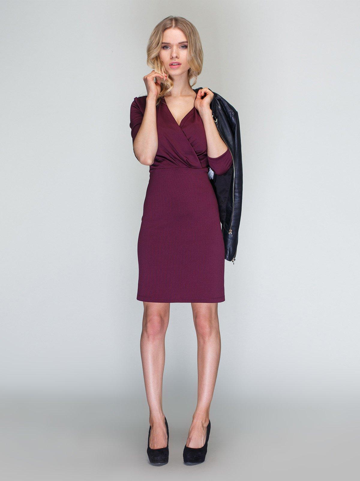 Платье бордовое | 3090613