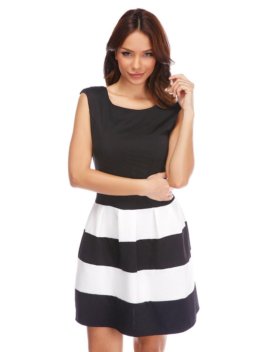 Платье черное с полосками | 3102461