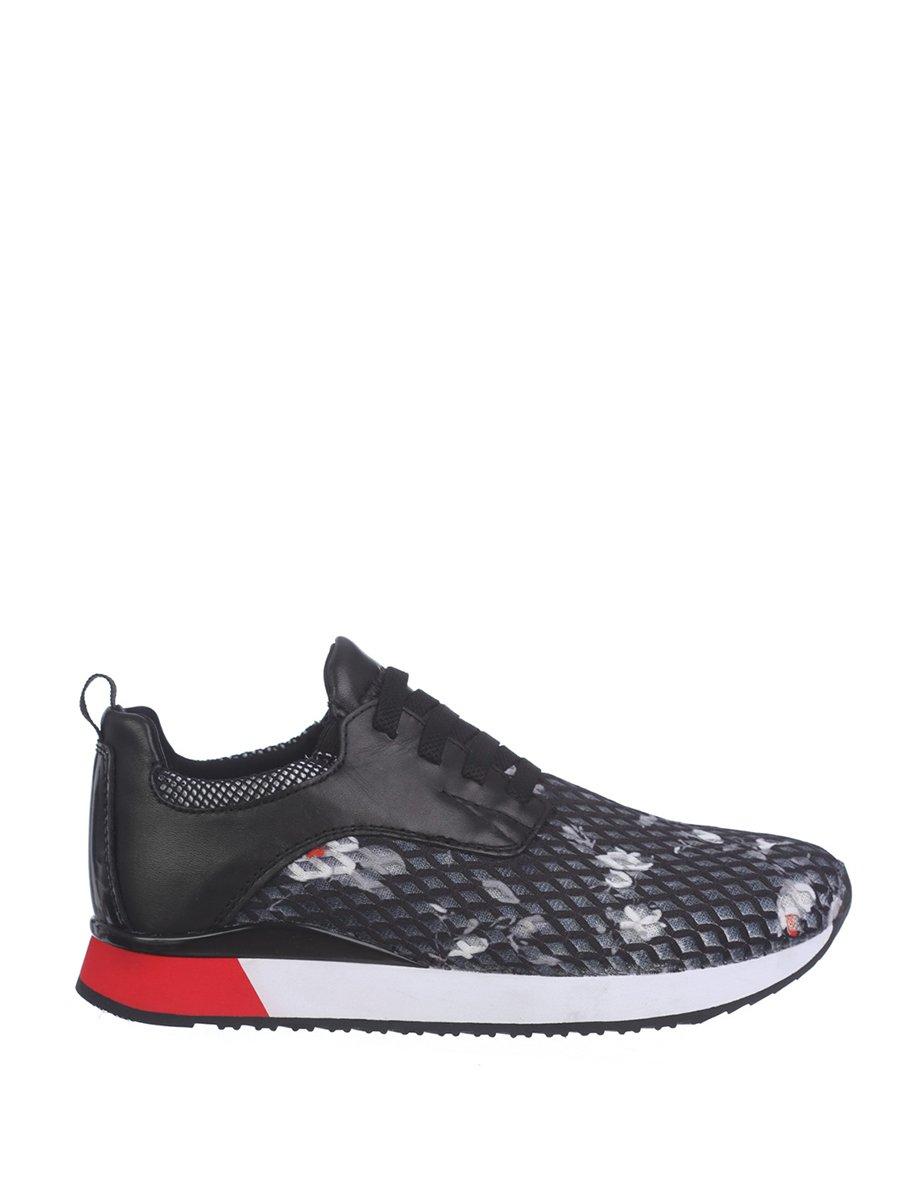 Кроссовки черные с принтом | 3106540