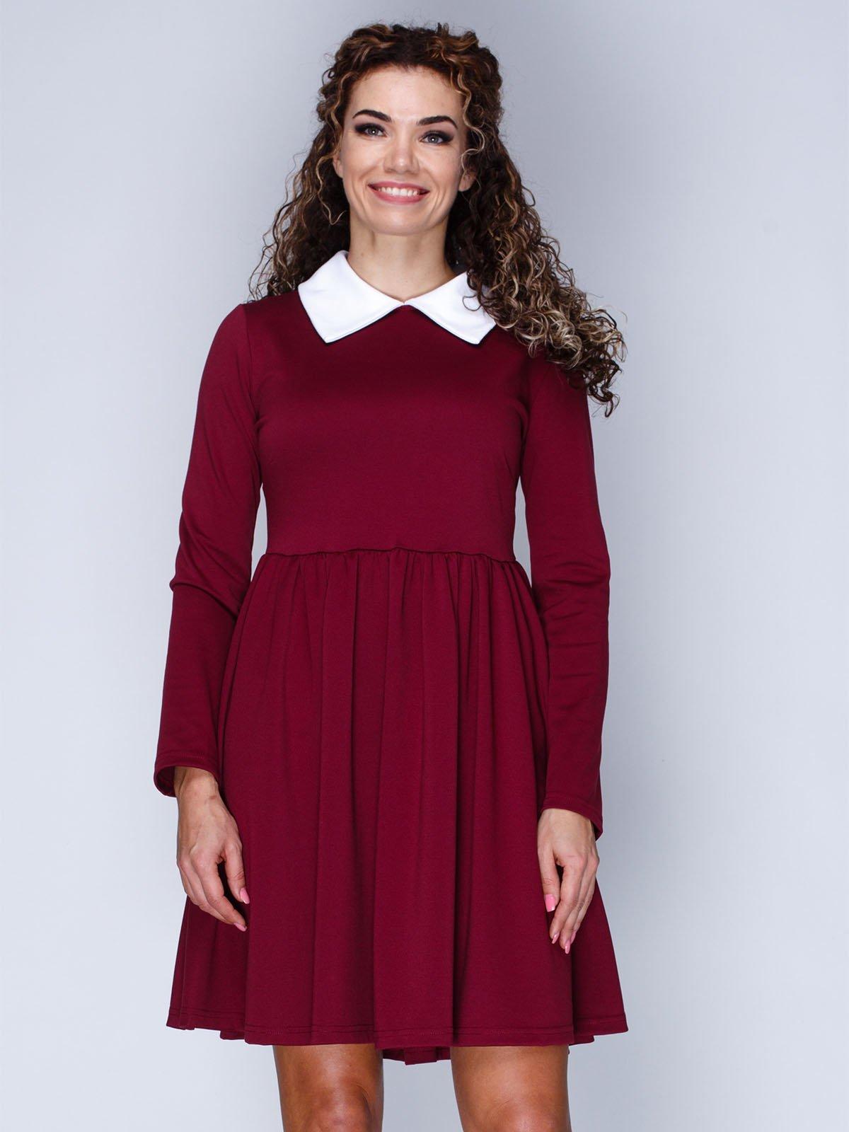 Сукня кольору марсала | 3086305