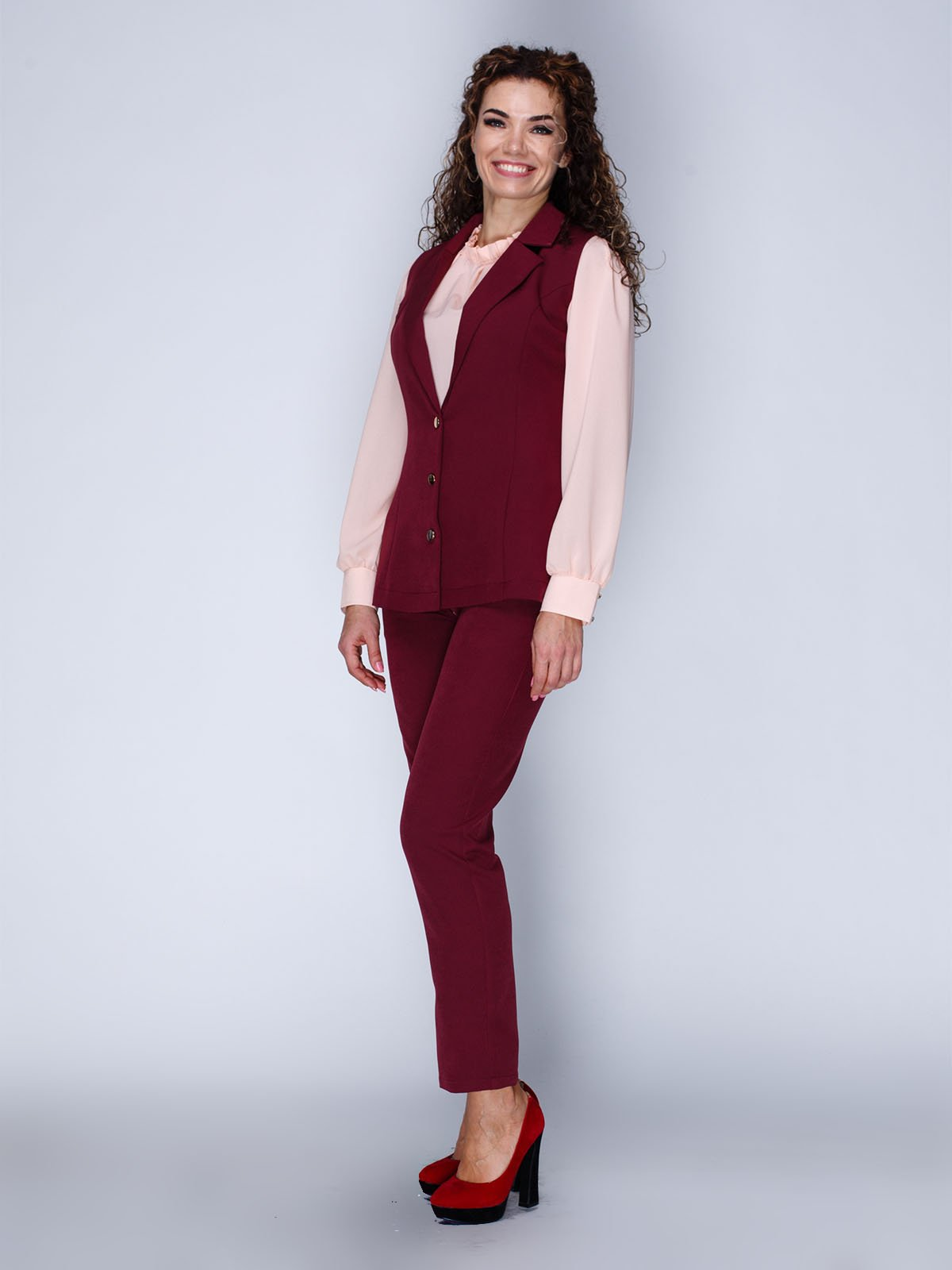 Комплект: жилет и брюки укороченные | 3046177