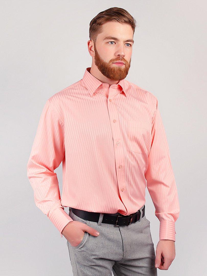 Рубашка розовая в полоску   3108319