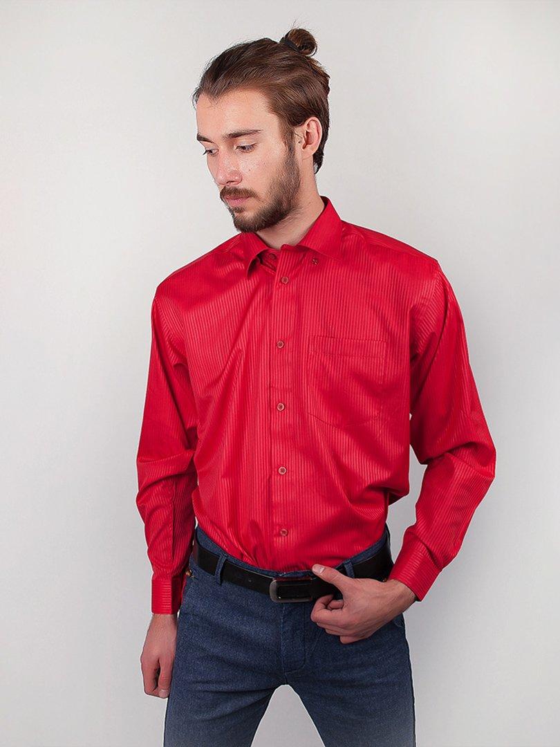Рубашка коралловая в полоску   3108320