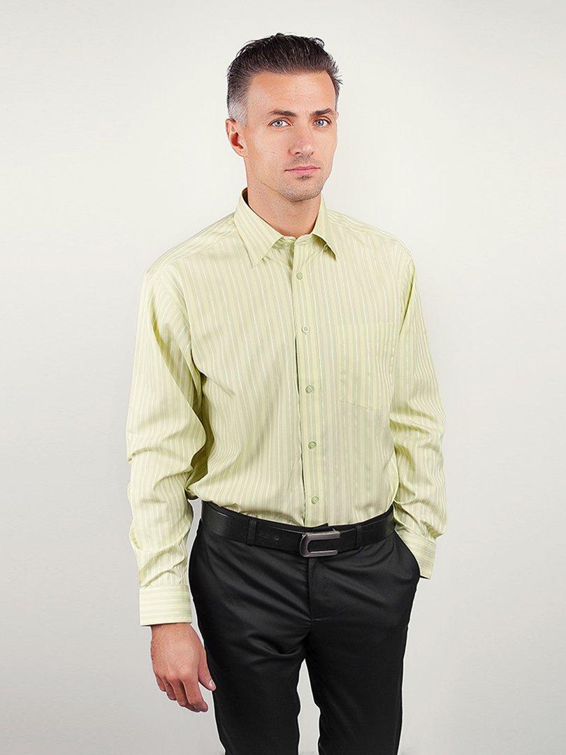 Рубашка салатовая в полоску | 3108339