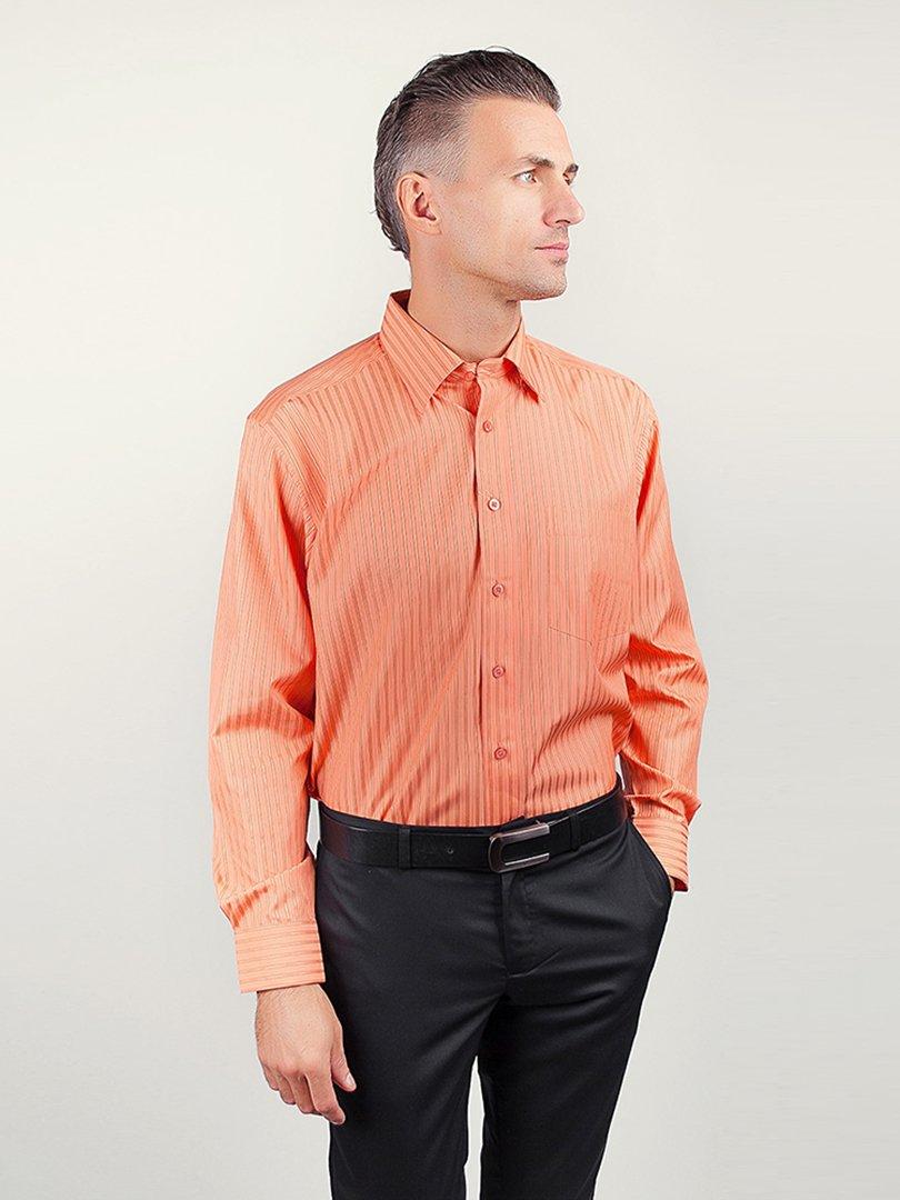 Рубашка оранжевая в полоску   3108396