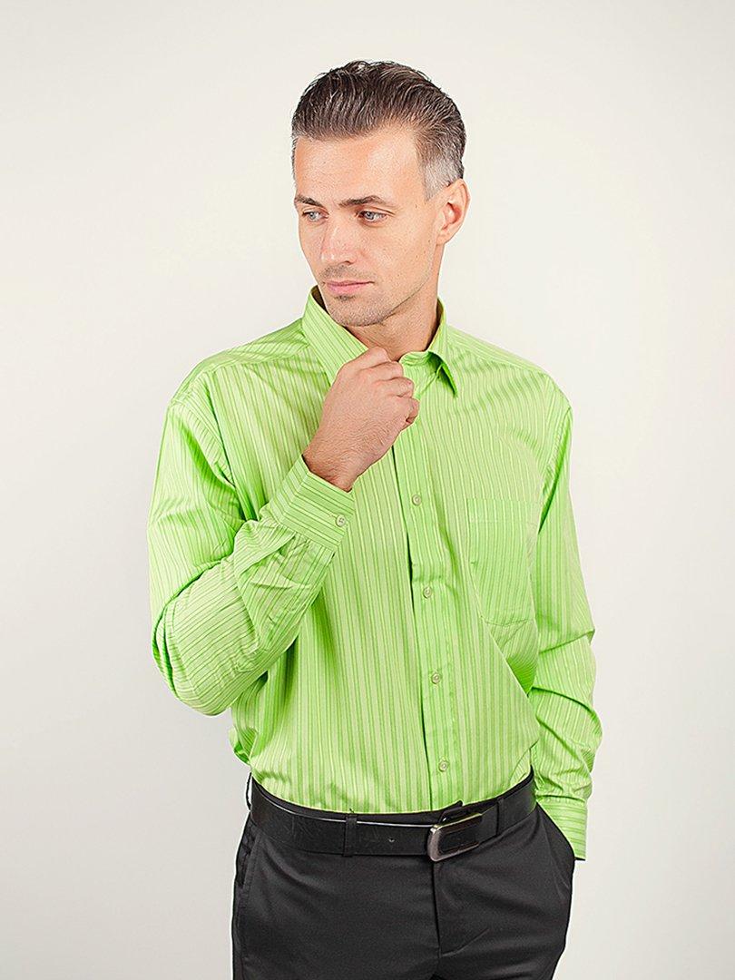 Рубашка салатовая в полоску | 3108420