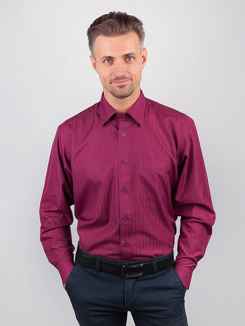 Рубашка бордовая в полоску   3108437