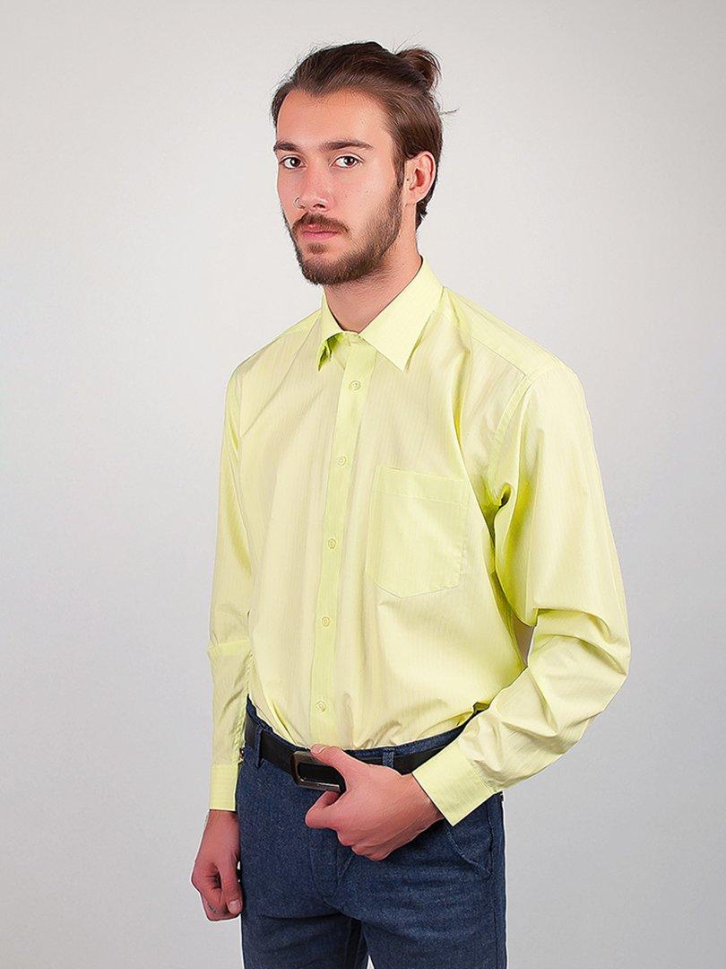 Рубашка салатовая в полоску | 3108478