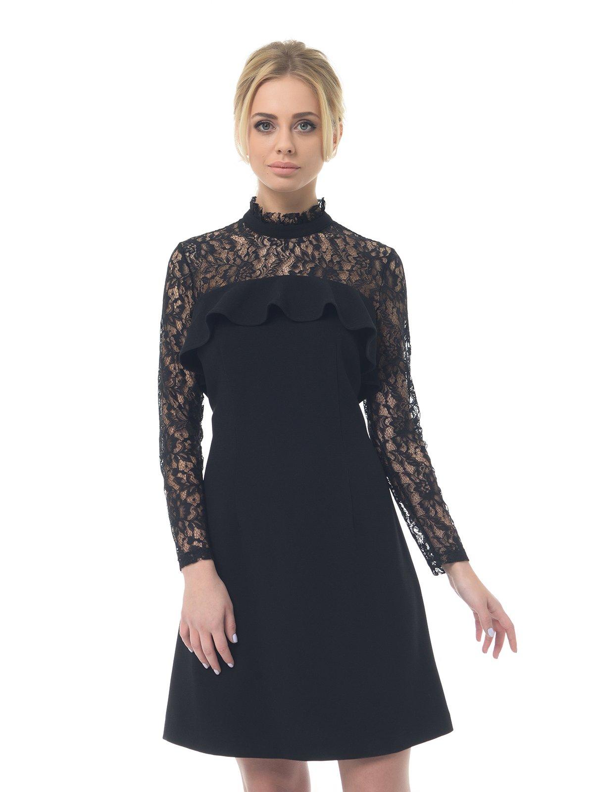 Платье черное ажурное | 3106571