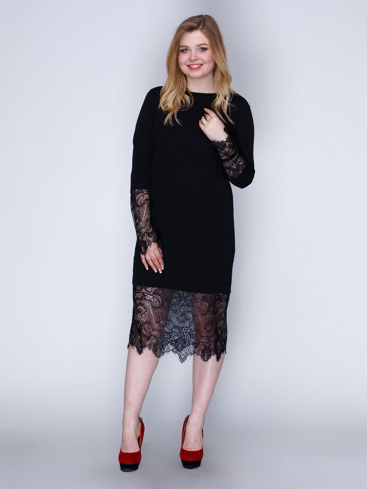 Сукня чорна з мереживом | 2763908