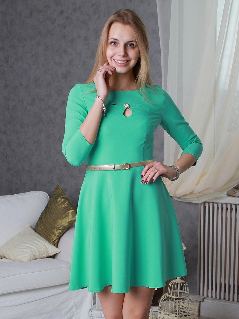 Платье мятного цвета | 2279080
