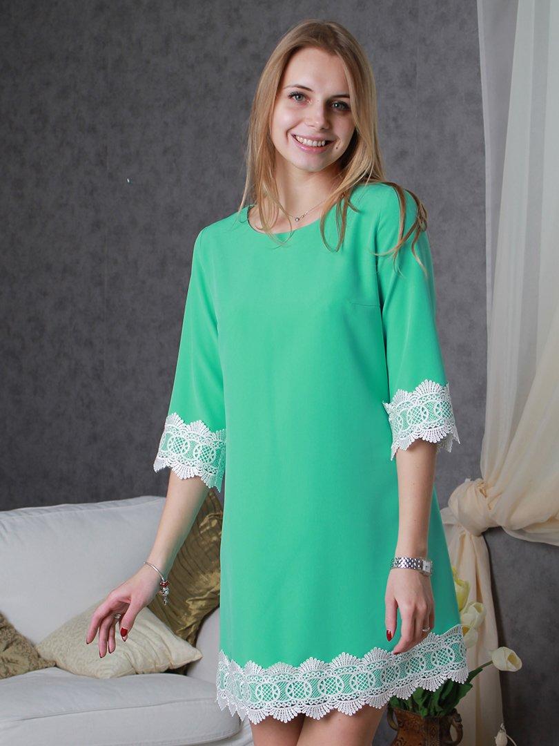 Платье ментолового цвета   3122361