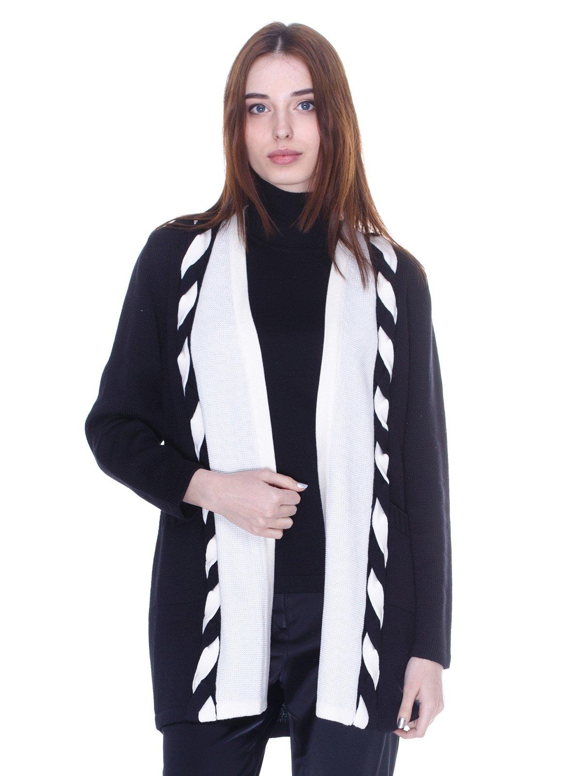 Кардиган черно-белый   3075565