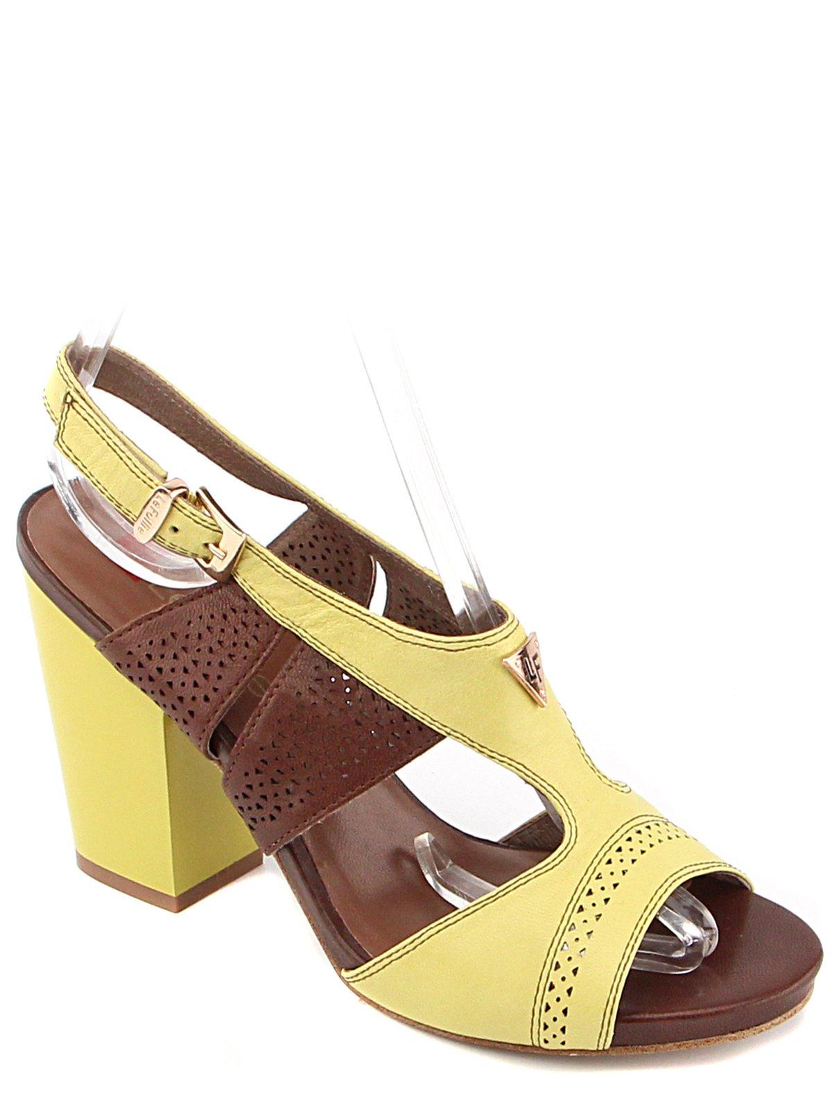 Босоніжки жовто-коричневі | 3128695